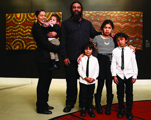 Artist Jeffrey Jackson and family