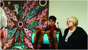 Boonwurrung and Wurundjeri elders Arweet Carolyn Briggs and Aunty Di Kerr