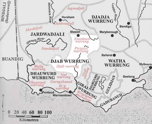 Map of Djab Wurrung area