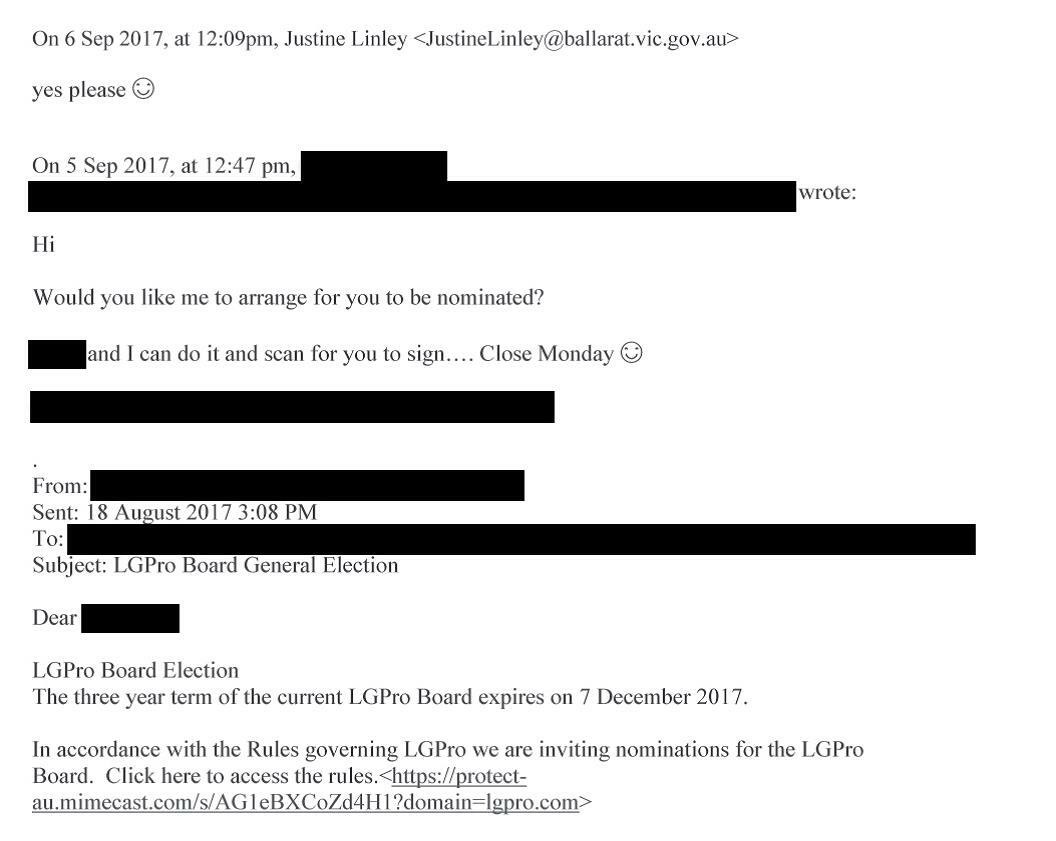 Image two of email between officer E and CEO