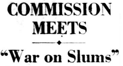 Figure 1: Newspaper report concerning first meeting of the Housing Commission