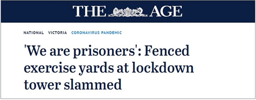 Figure 24: Media article concerning erection of temporary fencing, 12 July 2020
