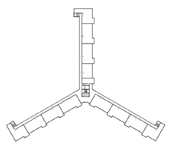 Figure 4: Typical floor plan for 33 Alfred Street