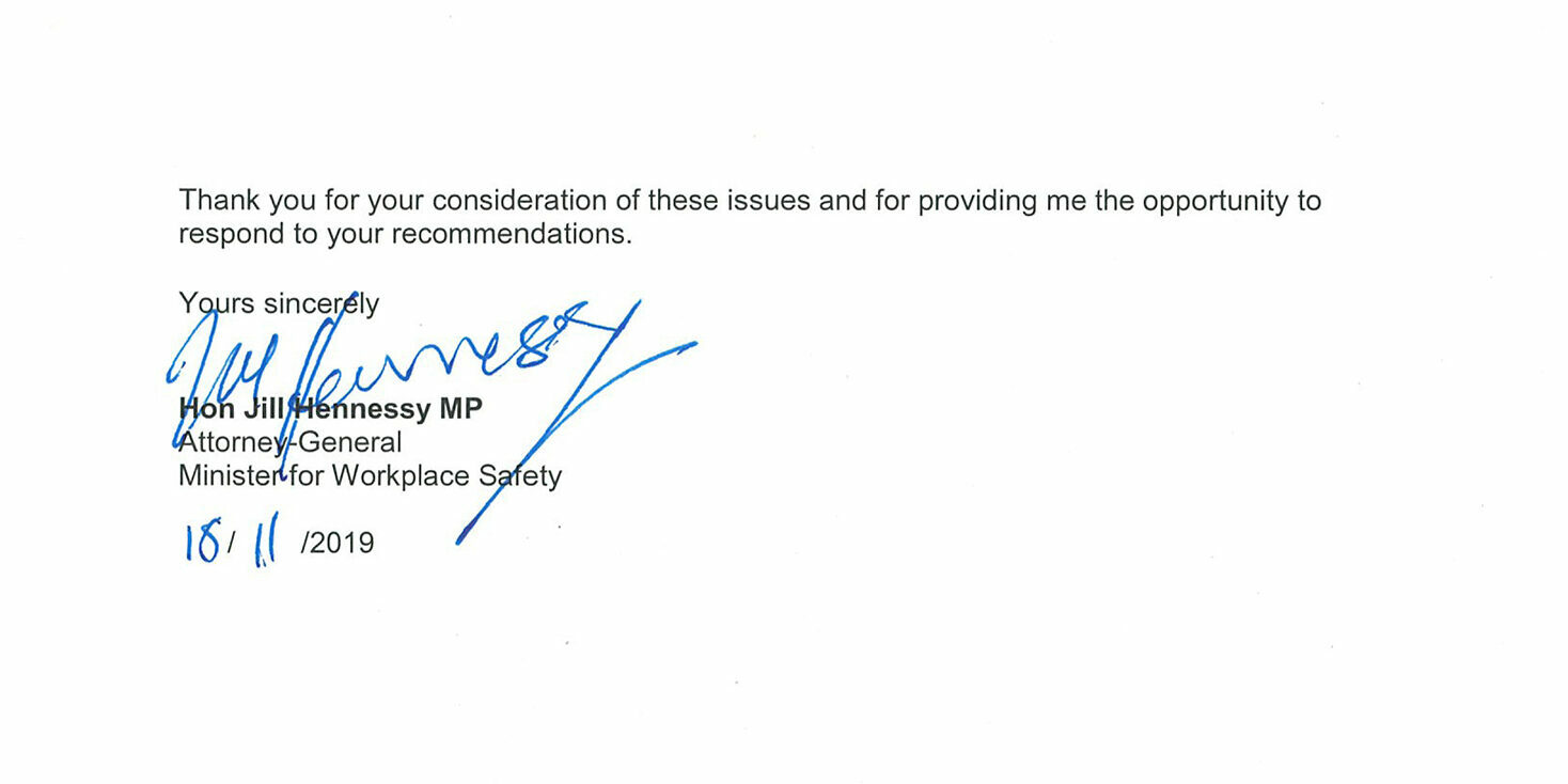 Page 2 of copy of minister's response